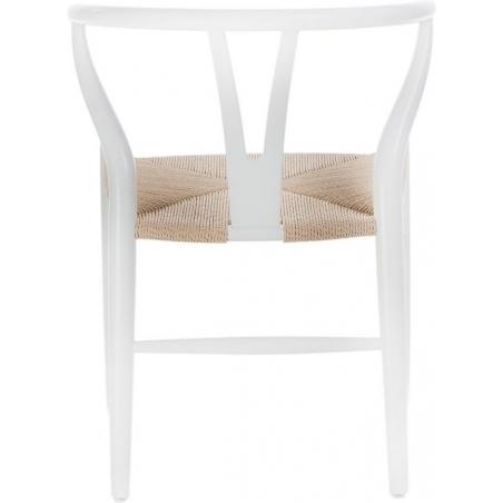 Designerskie Krzesło drewniane Wicker Białe D2.Design do jadalni i salonu.
