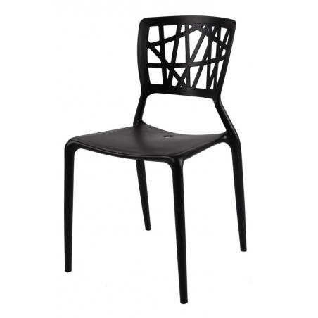 Stylowe Krzesło ażurowe Bush Czarne D2.Design do salonu i jadalni.