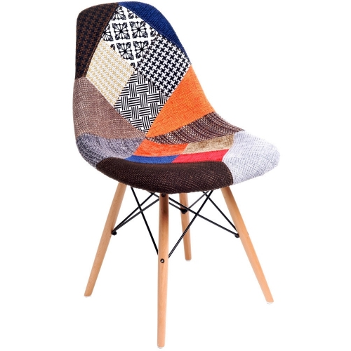 Patchwork II multicolour upholstered chair D2.Design