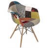 Patchwork I multicolour upholstered chair with armrests D2.Design