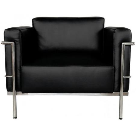 Designerski Fotel skórzany Grande Soft LC D2.Design do salonu. Kolor czarny
