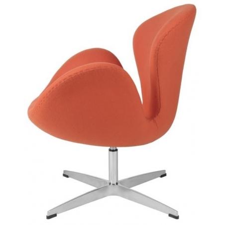 Designerski Fotel Cup insp. Swan Chair Cashmere Pomarańczowy D2.Design do salonu i sypialni.