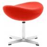 Stylowy Podnóżek tapicerowany insp. Jajo Chair Pomarańczowy D2.Design do fotela.