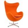 Jajo Chair Cashmere orange swivel armchair D2.Design