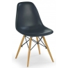 DSW Armless black scandinavian chair D2.Design