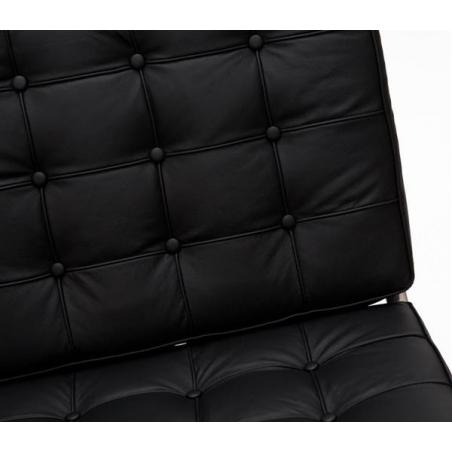 Designerski Fotel skórzany Barcelon Single Czarny D2.Design do salonu i sypialni.