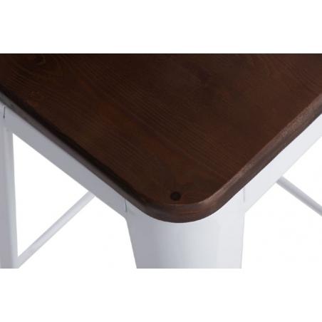 Paris 75 Wood walnut&white metal bar stool D2.Design