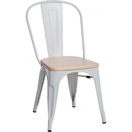 Paris Wood natural&white metal chair D2.Design