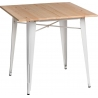 Paris Wood 76x76 white&natural square dining table D2.Design