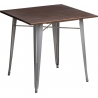 Paris Wood 76x76 silver&walnut square dining table D2.Design