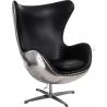 Designerski Fotel Jajo Black Czarny D2.Design do salonu i sypialni.