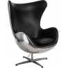 Jajo Alu black swivel armchair D2.Design
