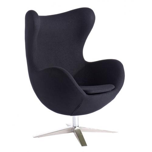 Designerski Fotel tapicerowany Jajo Chair Czarny D2.Design do salonu i sypialni.