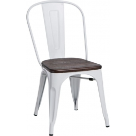Paris Wood brushed walnut&white metal chair D2.Design