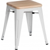 Paris Wood natural&white industrial metal stool D2.Design