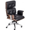 VIP black leather office armchair D2.Design