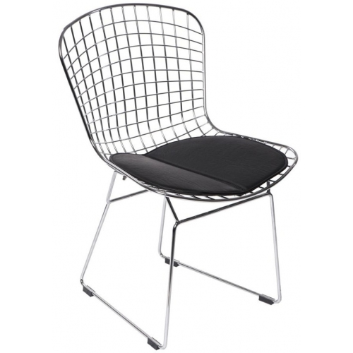 Harry insp. Diamond Chair chrome&black wire metal chair D2.Design