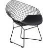 Designerskie Krzesło druciane Harry Arm Black Czarne D2.Design do jadalni, salonu i kuchni.