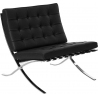 Designerski Fotel Barcelon Eco D2.Design do salonu. Kolor czarny