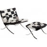 Barcelon Pony quilted armchair with footrest D2.Design