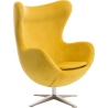 Jajo Velvet yellow swivel armchair D2.Design