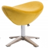 Jajo Velvet yellow upholstered footstool D2.Design