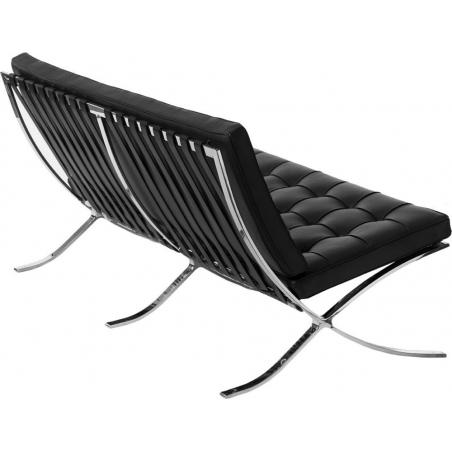Stylowa Sofa 2 osobowa Barcelon Czarna D2.Design do salonu i przedpokoju.