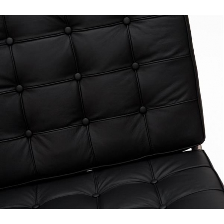 Barcelon black 2 seater leather quilted sofa D2.Design