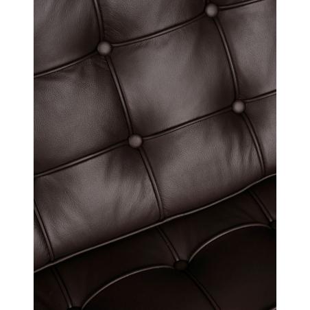 Stylowa Sofa skórzana 3 osobowa Barcelon Brązowa D2.Design do salonu i przedpokoju.