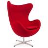 Designerski Fotel tapicerowany Jajo Chair Cashmere Czerwony D2.Design do salonu i sypialni.