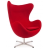 Jajo Chair Cashmere red swivel armchair D2.Design
