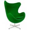 Designerski Fotel tapicerowany Jajo Chair Cashmere Zielony D2.Design do salonu i sypialni.