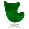 Jajo Chair Cashmere green swivel armchair D2.Design