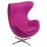 Designerski Fotel tapicerowany Jajo Chair Cashmere Amarant D2.Design do salonu i sypialni.