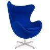 Designerski Fotel tapicerowany Jajo Chair Cashmere Niebieski D2.Design do salonu i sypialni.
