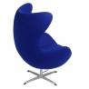 Designerski Fotel tapicerowany Jajo Chair Cashmere D2.Design do salonu. Kolor pomarańczowy