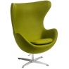 Jajo Chair Cashmere light green swivel armchair D2.Design