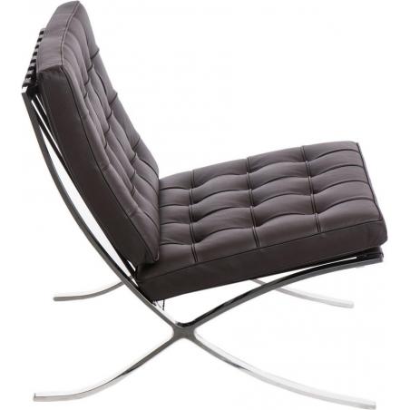 Designerski Fotel skórzany Barcelon Single Brązowy D2.Design do salonu i sypialni.