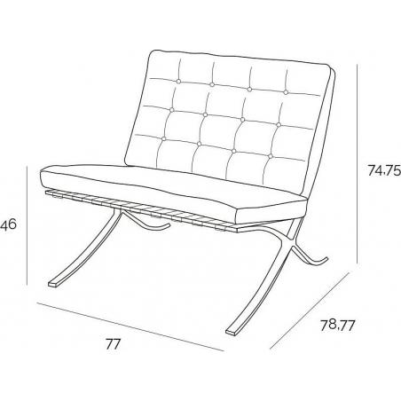 Designerski Fotel skórzany Barcelon Single Czerwony D2.Design do salonu i sypialni.