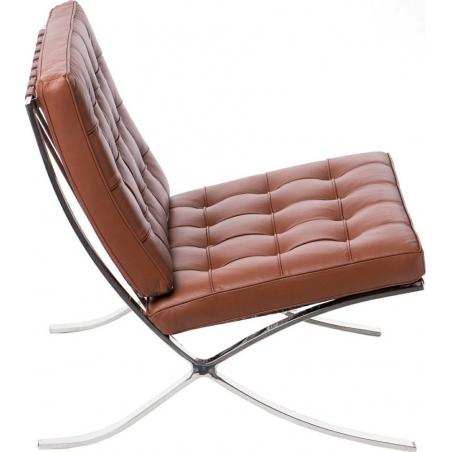 Designerski Fotel skórzany Barcelon Single Jasny brąz D2.Design do salonu i sypialni.