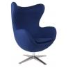 Jajo Chair blue swivel armchair D2.Design