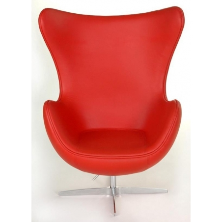 Jajo Chair Leather red swivel armchair D2.Design