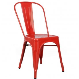 Paris insp. Tolix custom colour metal chair D2.Design