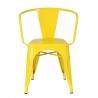 Designerskie Krzesło metalowe z podłokietnikami Paris Arms insp. Tolix D2.Design do kuchni. Kolor szary