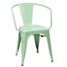 Paris Arms insp. Tolix mint metal chair with armrests D2.Design