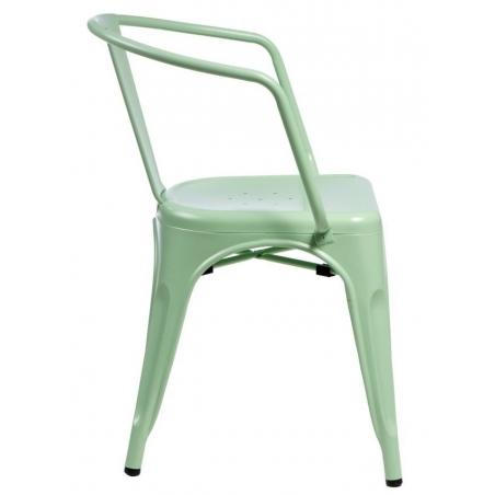 Paris Arms insp. Tolix mint metal chair with armrests D2.Design