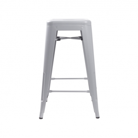Paris 66 insp. Tolix grey metal bar stool D2.Design