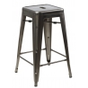 Paris 66 insp. Tolix metal bar stool D2.Design