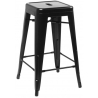 Paris 66 insp. Tolix black metal bar stool D2.Design