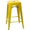 Paris 66 insp. Tolix yellow metal bar stool D2.Design